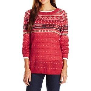Woolrich Red Mohair Wool-blend Fair Isle Sweater